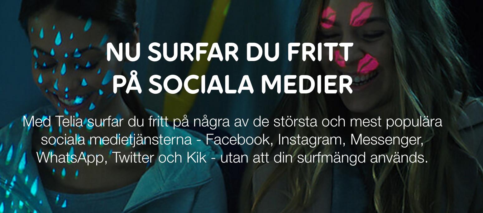 Telia gratis sociala medier