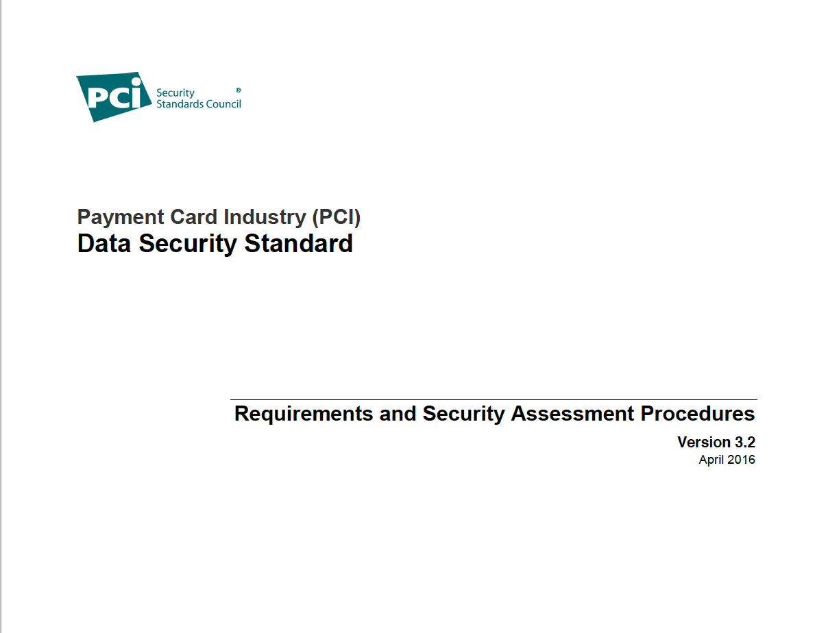 PCI DSS v3.2