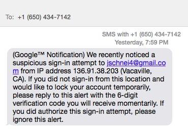 Google 2FA Attack