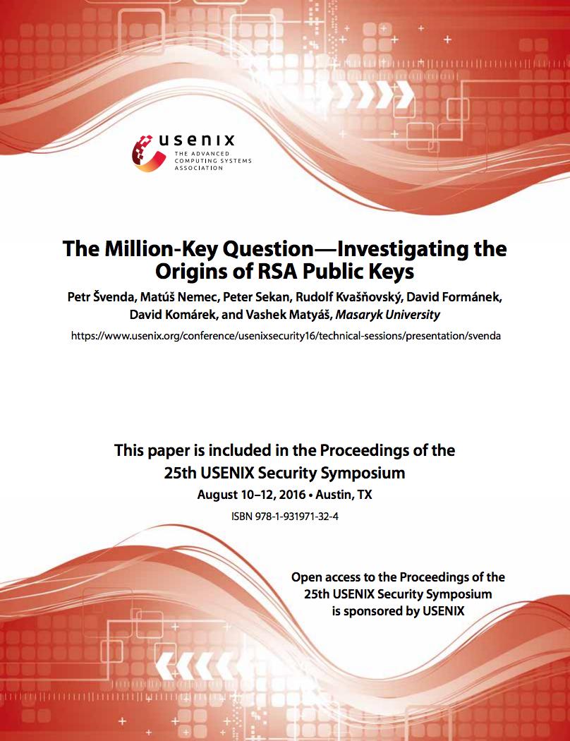 RSA key origin