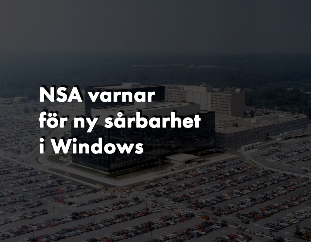 NSA varnar för ny sårbarhet i Windows