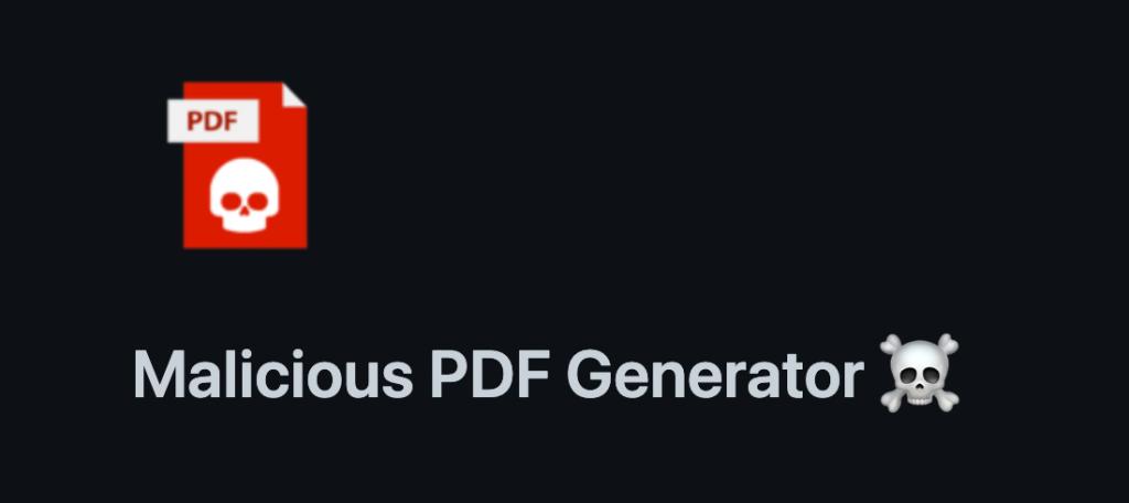 malicious PDF generator